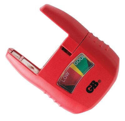 GB Analog Multiple Battery Tester Manual Red