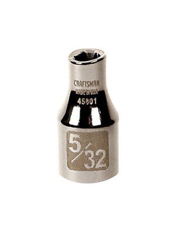 Craftsman 5/32 Alloy Steel 1/4 in. Drive in. drive Standard Socket