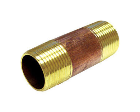 Ace 1/4 in. MPT x 1/4 in. Dia. MPT Threaded Red Brass Pipe Nipple