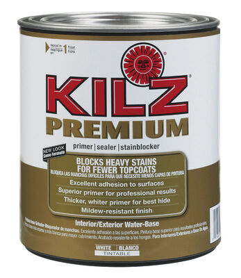 Kilz Premium Water-Based Interior and Exterior Primer and Sealer 1 qt. White Mildew-Resistant