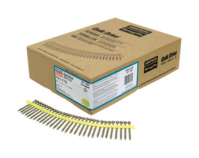 Simpson Strong-Tie Quick Drive Flat Deck Screws No. 10 x 2-1/2 in. L Tan Boxed