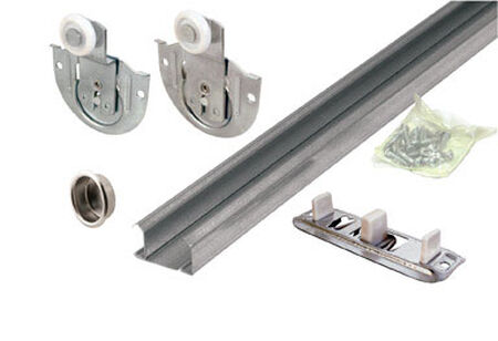 Prime-Line Galvanized Sliding Door Hardware Kit 1 pk