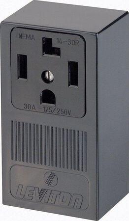 Leviton Electrical Receptacle 30 amps 14-30R 125/250 volts Black