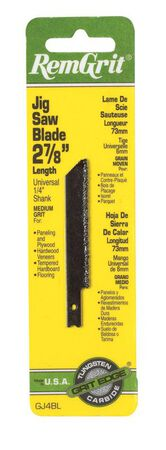 RemGrit Carbide Grit Universal 2-7/8 in. L Jig Saw Blade