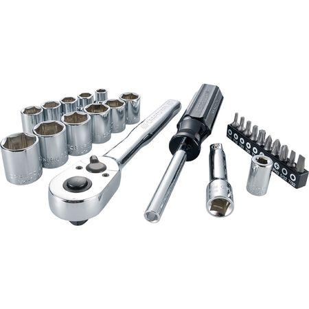 Craftsman 3/8 in. drive Metric 6 Point Nano Mechanic's Tool Set 24 pc.