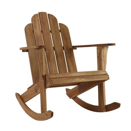 Linon Home Decor Tahoe 1 Brown Wood Chair