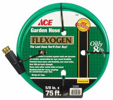 Ace 5/8 in. Dia. x 75 ft. L Garden Hose Kink Resistant