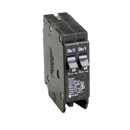 Eaton HomeLine Single Pole 15/15 amps Circuit Breaker
