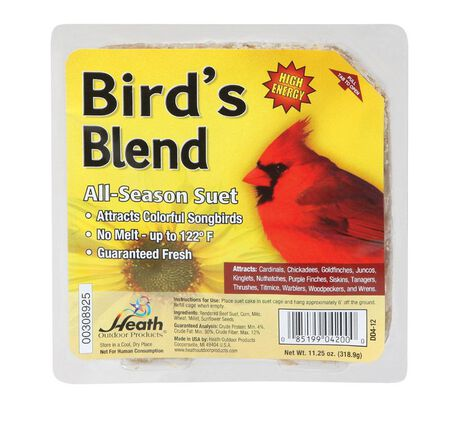 Heath Bird's Blend Songbird Suet Beef Suet 11.25 oz.