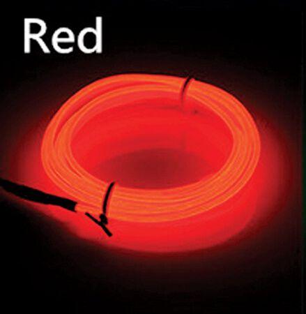 Celebrations Neon Rope Light Set Red Plastic 1 pk