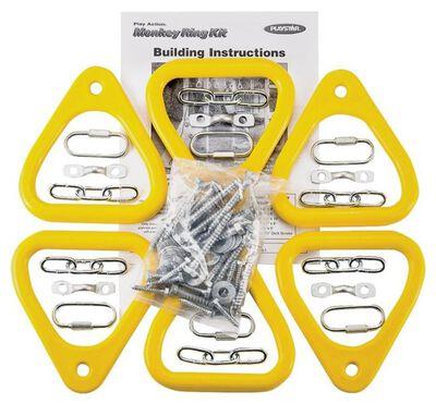 Monkey Ring Kit, 6 Pieces, 105 Lb Load, Teardrop
