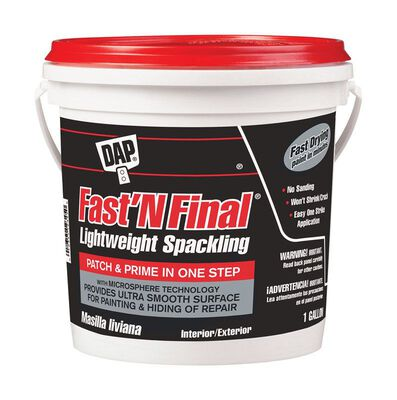DAP Fast 'N Final Ready to Use Lightweight Spackling Compound 1 gal.