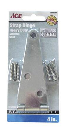 Ace Steel Heavy Duty Strap Hinge 4 in. L Stainless Steel 1 pk