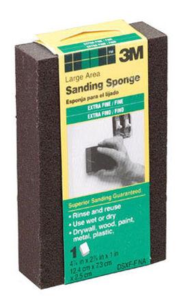 3M Aluminum Oxide Sanding Sponge 4-7/8 in. W x 2-7/8 in. L Assorted
