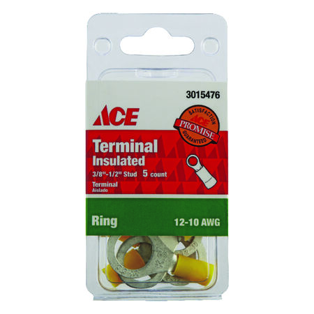 Ace Industrial Ring Terminal 5 Vinyl Yellow