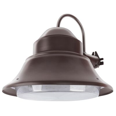 50-Watt Bronze Outdoor Integrated LED 13 in. Wall/Post Mount Security Area Light with Dusk to Dawn Photocell