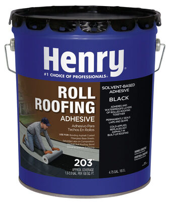 Henry Solvent Based Cold-Ap Roof And Lap Adhesive 4-3/4 gal. Black
