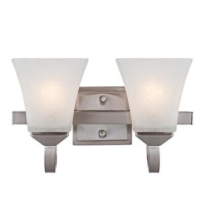 Torino 2-Light Wall Light, Satin Nickel #514752