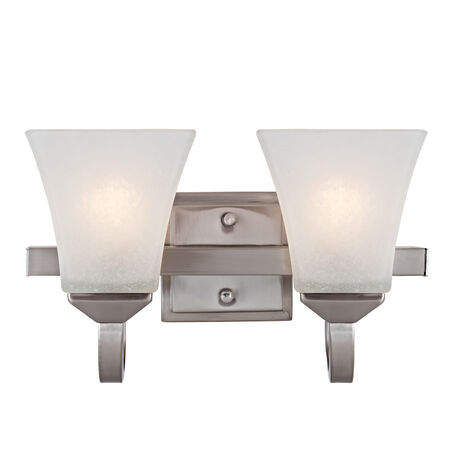 Torino 2-Light Wall Light, Satin Nickel #514752