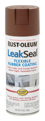 Rust-Oleum LeakSeal Rubberized Flexible Rubber Sealant 12 oz. Brown