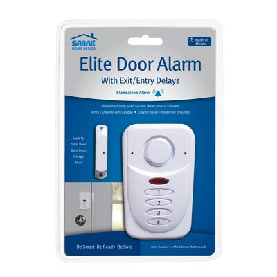 Sabre Elite Door Alarm White 3 in. H x 1.1 in. W x 4 in. L