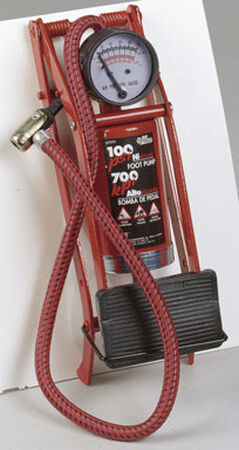 Custom Accessories Foot Pump Heavy Duty 100 psi 10 in. 2in. x 4-1/8 in. Plastic Polybag
