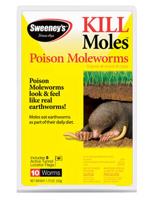 Sweeney's Poison Moleworms For Moles Animal Repellent Worms 1.75 oz. 10 pk