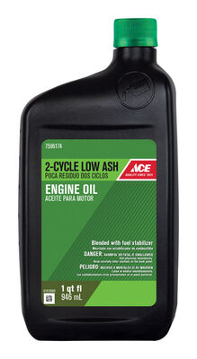 Ace Low Ash 2 Cycle Engine Motor Oil 1 qt.