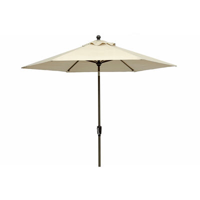 Living Accents Baystone 9 ft. Tiltable Beige Market Umbrella