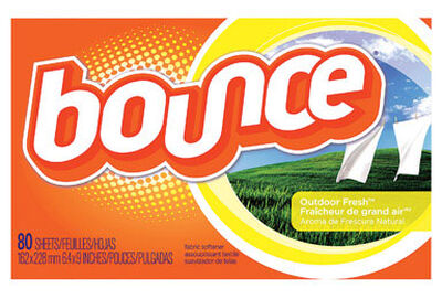 Bounce Outdoor Fresh Scent Fabric Softener Sheets 80 sheet