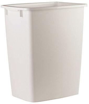Rubbermaid 36 White Open Top Wastebasket