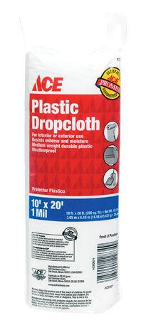 ACE 10 ft. W x 20 ft. L x 1 mil Plastic Drop Cloth 1 pk