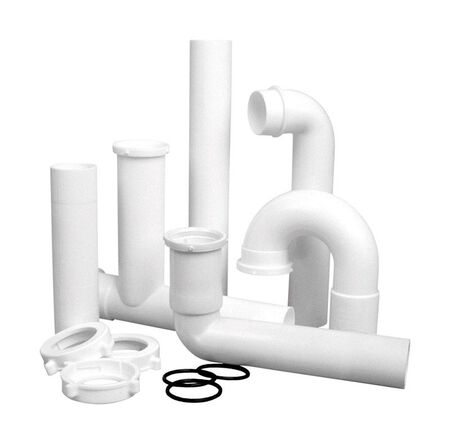 Superior 1-1/2 in. Dia. x 10 in. L Plastic Deluxe Leak-Free Disposal Kit