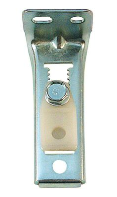 Prime-Line Brass Plated Bracket Silver Floor/Jamb Mount 1 pc. 1-5/16 in. H