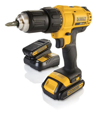 DeWalt 20 volts 1/2 in. Single Sleeve Ratcheting Cordless Compact Drill/Driver Kit