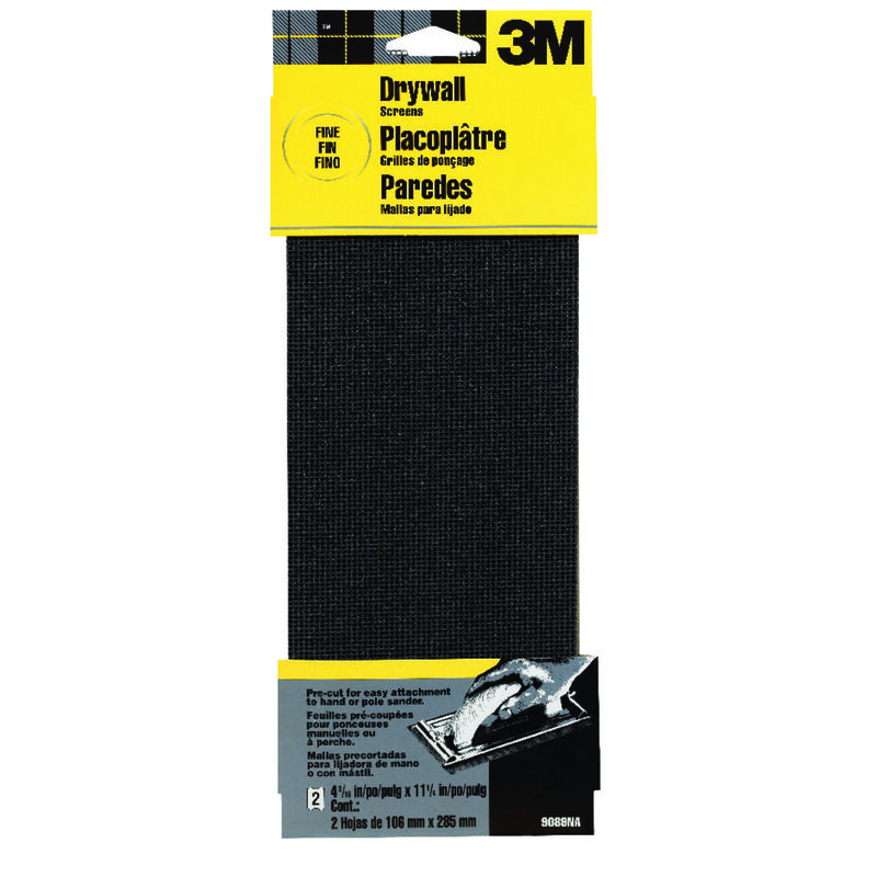 L 120 Grit Fine  2 pk 3M  Silicon Carbide  Drywall Sanding Screen  11-1//4 in