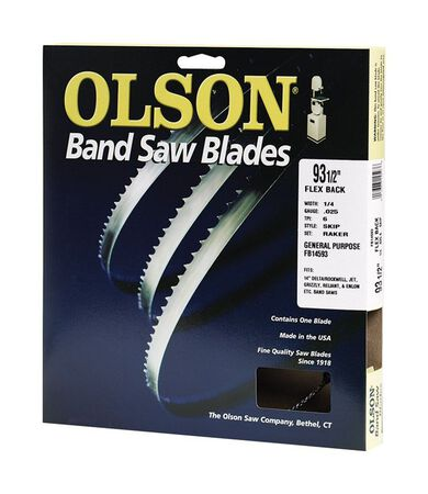 Olson 93.5 in. L x 0.3 in. W Carbon Steel Band Saw Blade