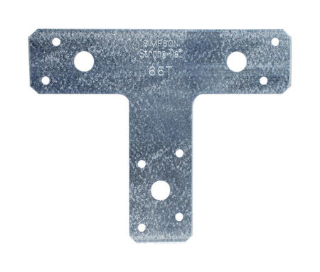 Simpson Strong-Tie Galvanized Steel T Strap 5 in. H x 1-1/2 in. W 14 Ga.