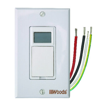Woods Indoor 7 Day Digital In Wall Timer 15 amps 120 volts