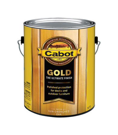 Cabot Gold Outdoor Transparent Satin Deck Varnish 1 gal. Sun-Drenched Oak