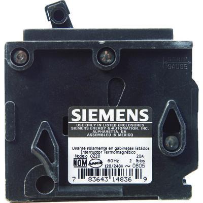 Siemens HomeLine Double Pole 20 amps Circuit Breaker