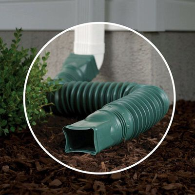 Amerimax 25-1/2 L x 3 in. W x 4-1/2 in. H Polyethylene Downspout Extension Green