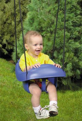 Toddler Swing, 1 High Back Seat, 60 Lb, 9 - 36 Month, Plastic
