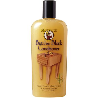Howard Oil-Based Butcher Block Conditioner Clear 12 oz.
