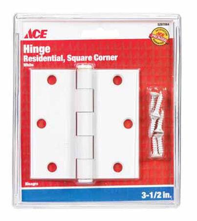 Ace Steel Residential Hinge 3-1/2 in. L White 1 pk
