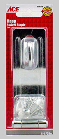 Ace Zinc Swivel Staple Safety Hasp 4-1/2 in. L
