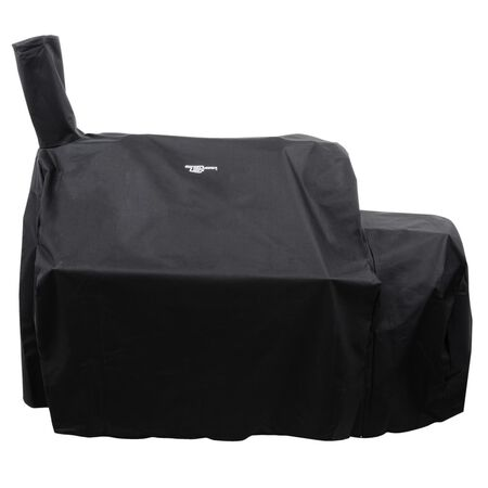 Oklahoma Joe's Black Grill Cover For Oklahoma Joes Highland Offset Smoker 57 in. W x 53 in. H