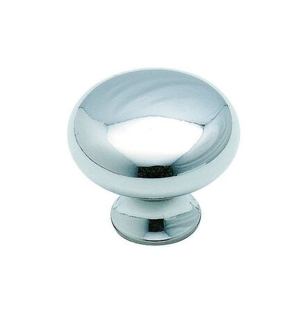 Amerock Anniversary Round Cabinet Knob 1-3/16 in. Dia. 1-1/16 in. Polished Chrome 1 pk