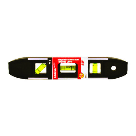 Ace Aluminum Magnetic Torpedo Level 9 in. L