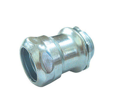 Sigma 1/2 in. Dia. Galvanized Steel Compression Connector IMC